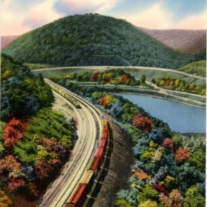 Vintage postcard. This feat of engineering. This landscape. This fortune. I hold it. Onward.